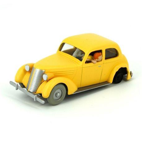 κίτρινο τρακαρισμένο αυτοκινητο